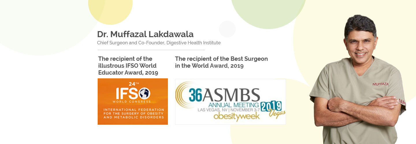 DHI - IFSO Educator Award 2019 & Best Surgeon In The World Award 2019 - Dr Muffazal Lakhdawala